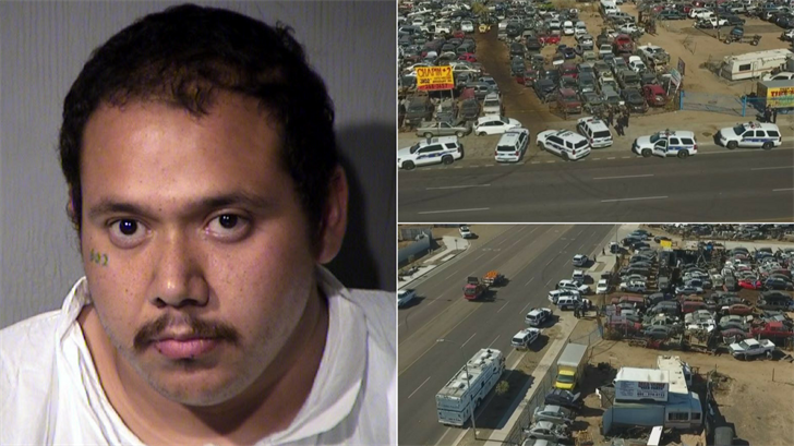 Police said they have arrested a manin connection with a deadly double shooting in a Phoenix industrial area. (Source: MCSO/3TV/CBS 5)