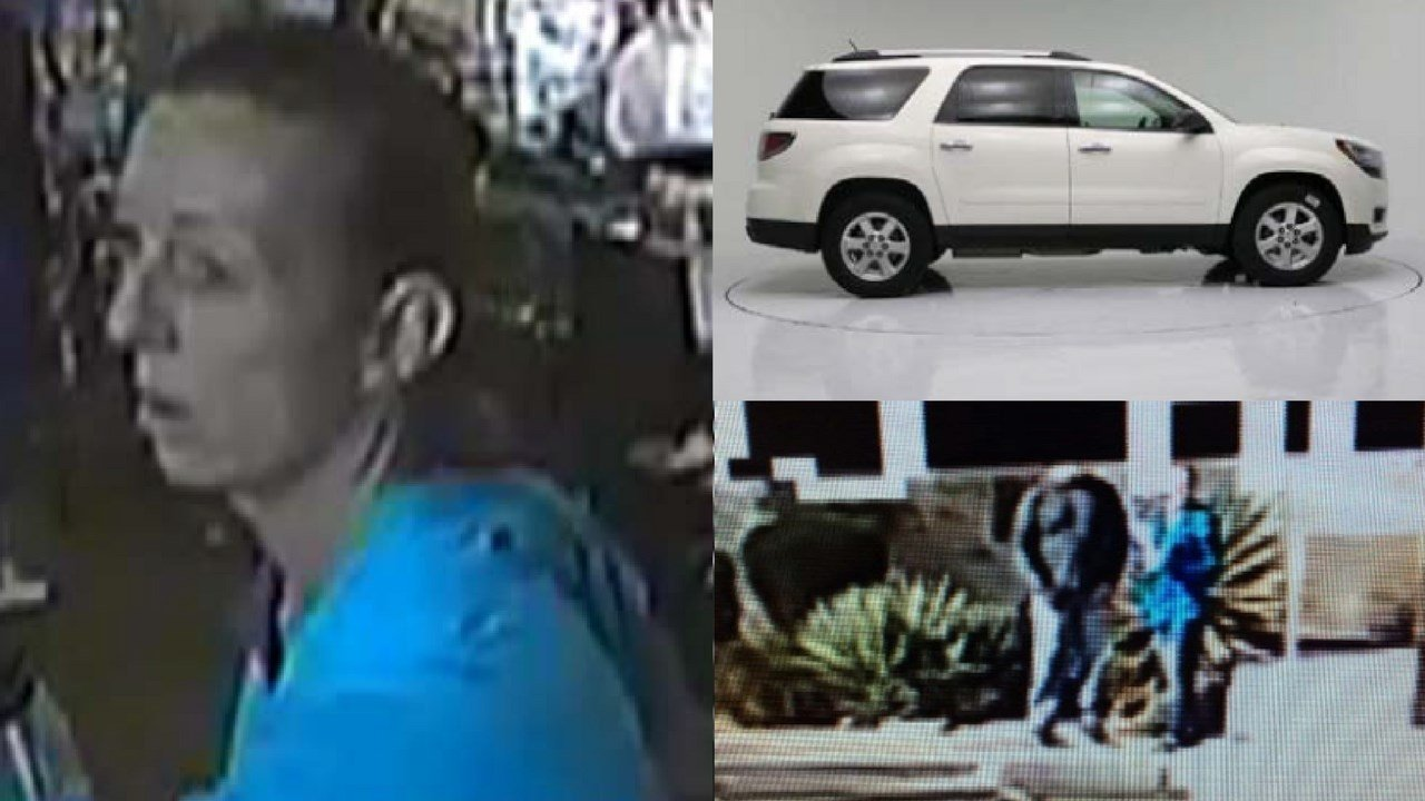 Surveillance Footage of the suspects and the USPS vehicle they stole.(Source: United States Postal Service)