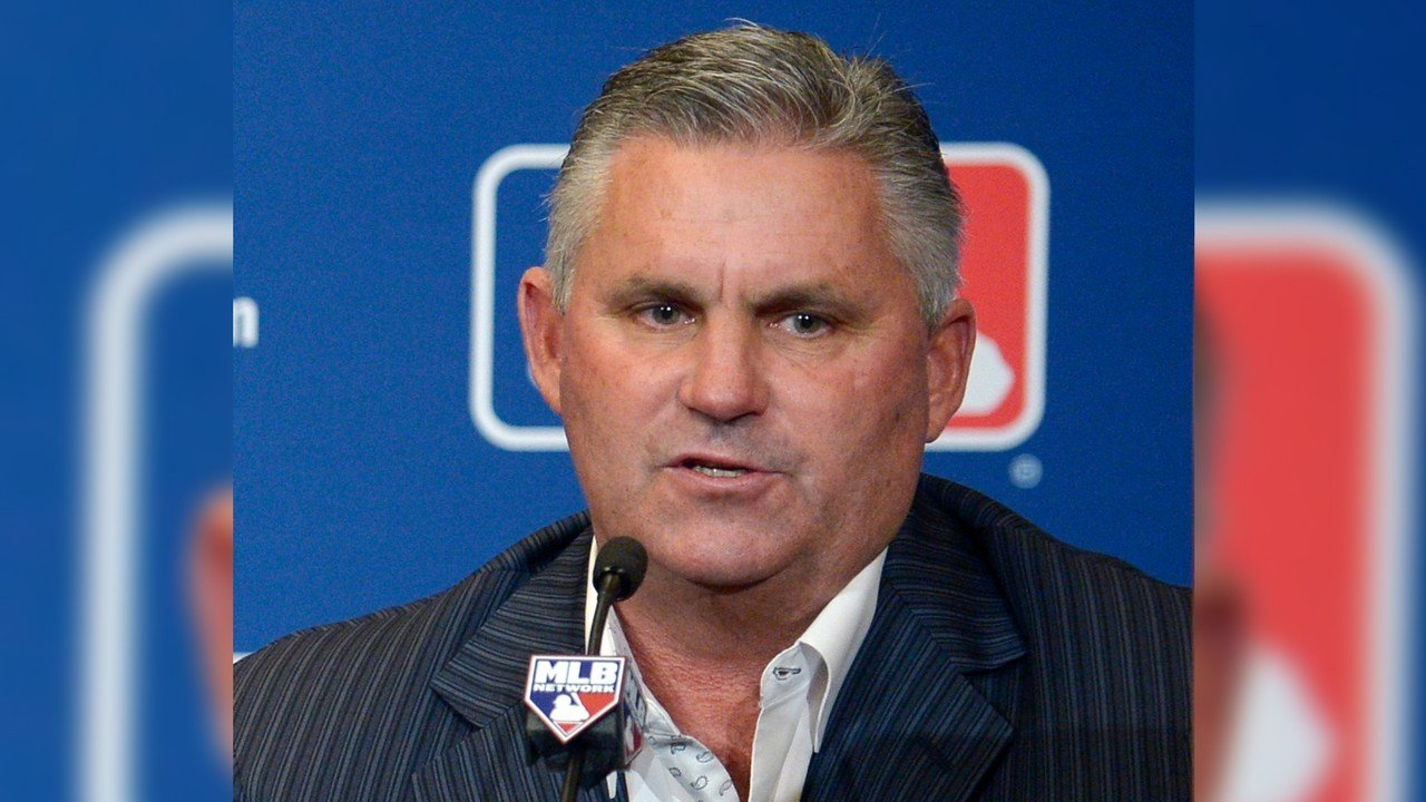FILE - In this Dec. 10, 2013, file photo, former Arizona Diamondbacks general manager Kevin Towers address reporters at baseball's winter meetings in Lake Buena Vista, Fla.(AP Photo/Phelan M. Ebenhack, File)