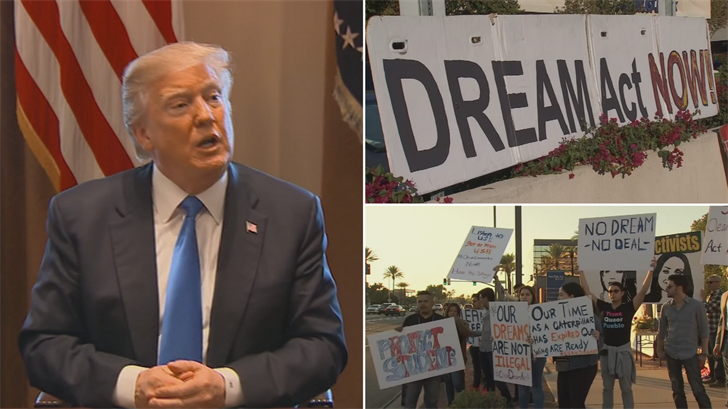 Supporters of the DREAM Act, a bill that never passed Congress, hope that Trump shows more support for it in his State of the Union address. (Source: 3TV/CBS 5/CNN)