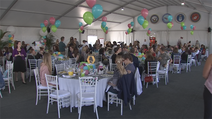 Dozens of military soon-to-be moms were treated to a baby shower at TPC Scottsdale. (Source: 3TV/CBS 5)