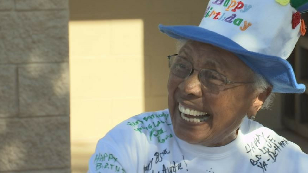 Billie Harris celebrated her 85th birthday with a ballgame. (Source: 3TV/CBS 5)