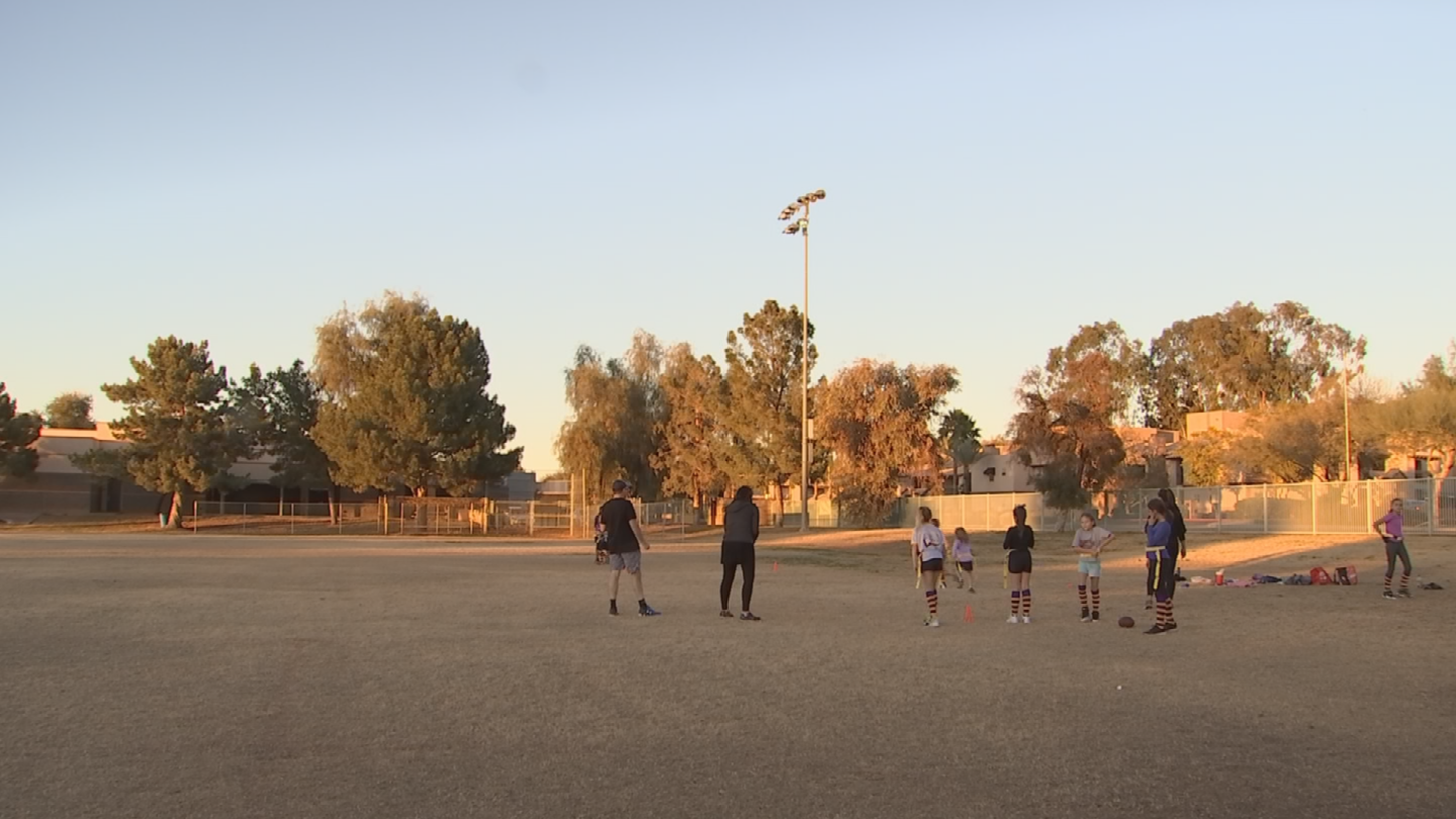 Primetime Athletics in North Scottsdale and Fountain Hills has so much interest from girls that the league created three different age divisions with teams made up of all-female football players. (Source: 3TV/CBS 5)