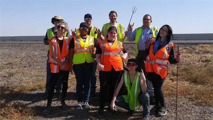 About a dozen members of the Satanic Temple of Arizona picked up trash along the highway. (Source: thesatanictemplearizona.com)