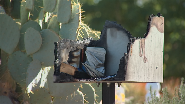 Neighbors are convinced the fire was deliberately set, but no one's quite sure why. (Source: 3TV/CBS 5)