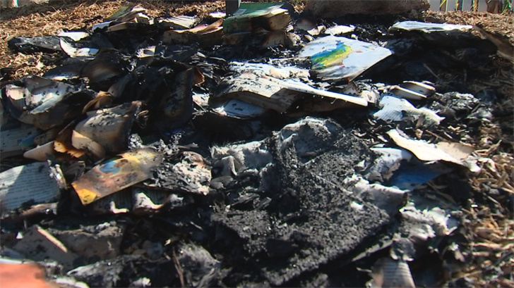The little library that burned down was built about a year ago. (Source: 3TV/CBS 5)