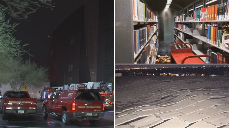 5 Phoenix Fire and Medical Department workers were disciplined over the flooding of Burton Barr Central Library. (Source: 3TV/CBS 5)