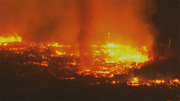 Dozens of firefighters were on the scene on Wednesday night of the River Fire in Pinal County. (Sour