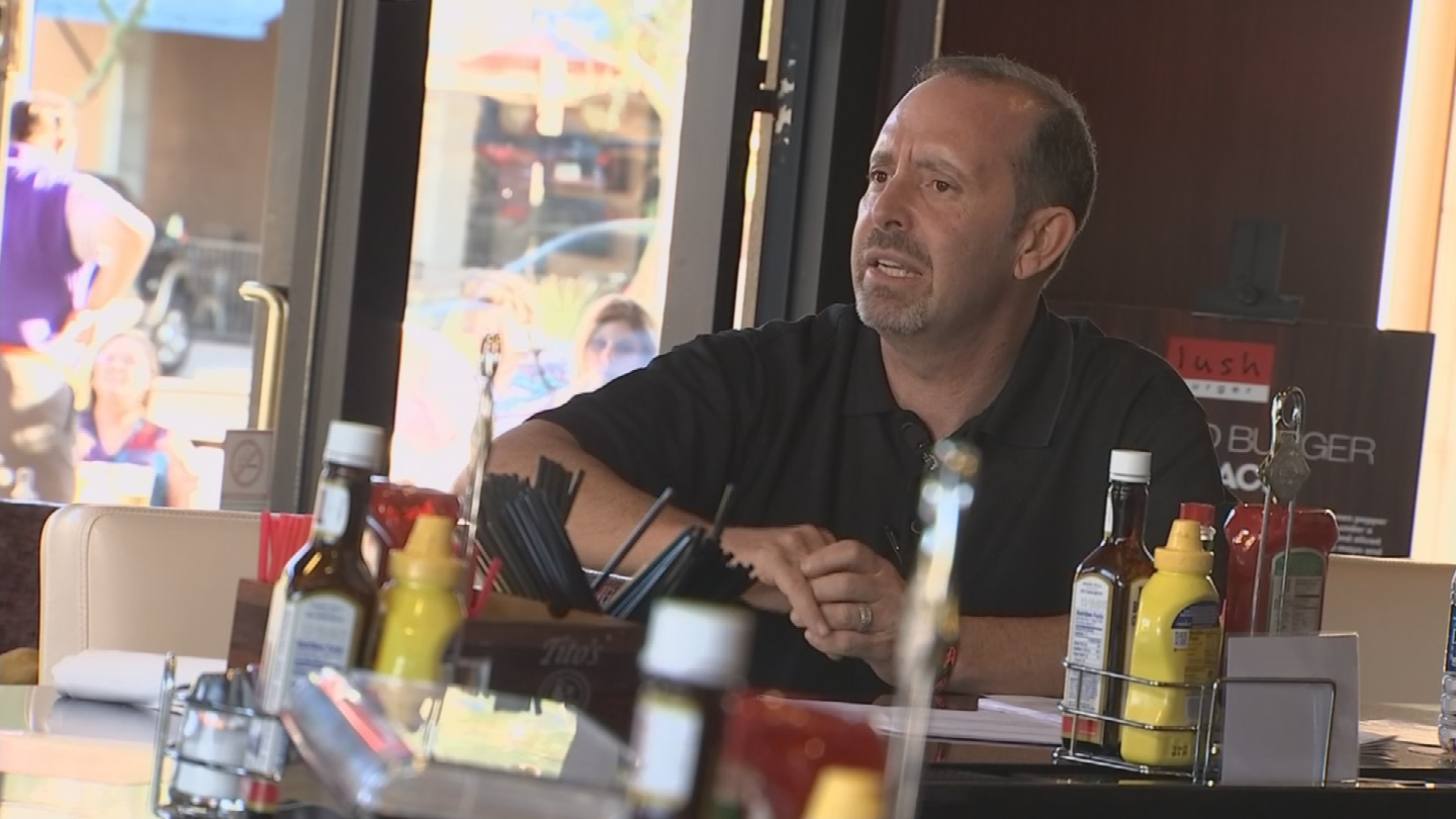 Hoff said if his customers don't like the food, they should go to McDonald's. (Source: 3TV/CBS 5)