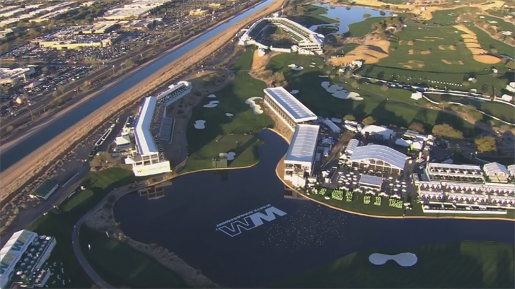 A new addition to the Waste Management Phoenix Open, Cove 17, hopes to bring some of the vibes from hole 16 to hole 17. (Source: 3TV/CBS 5)