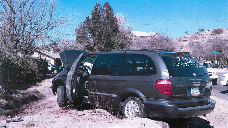 Border Patrol agents say a 14-year-old Nogales boy was at the wheel of a van concealing a dozen Mexican citizens that crashed during a pursuit. (Source: U.S. Customs and Border Patrol)