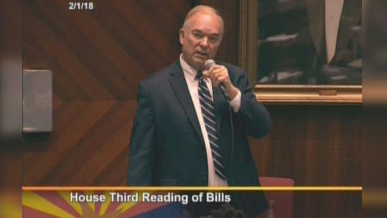 Rep. Don Shooter spoke on the House floor before lawmakers voted to expel him for sexual harassment.(Source: House TV)