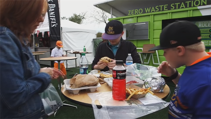 It takes a big crew to feed the masses at the Waste Management Phoenix Open. (Source: 3TV/CBS 5)