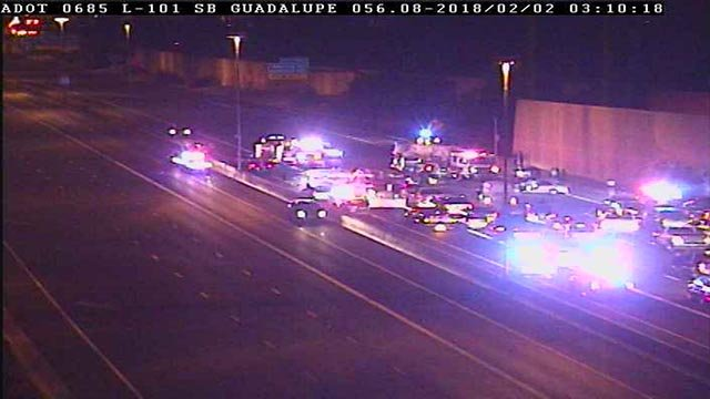 Vehicles are exiting and re-entering at Guadalupe Road. (Source: 3TV/CBS 5)