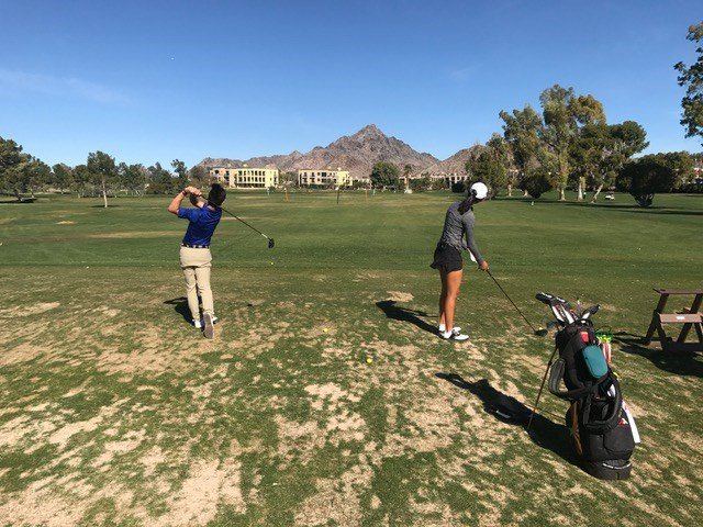 (Mason Nam and Kelly Su / Jr golfers)