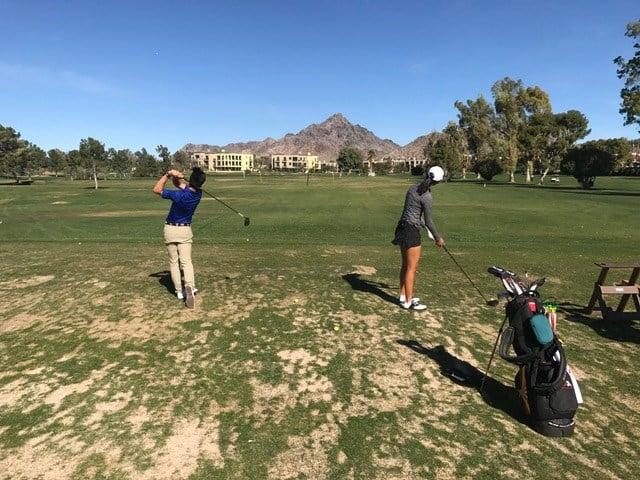 (Mason Nam and Kelly Su / Jr golfers)