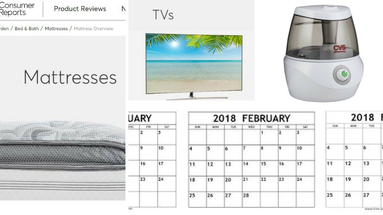 February is a good month for certain purchases. 2 Feb. 2018 (Source: ConsumerReports.org)