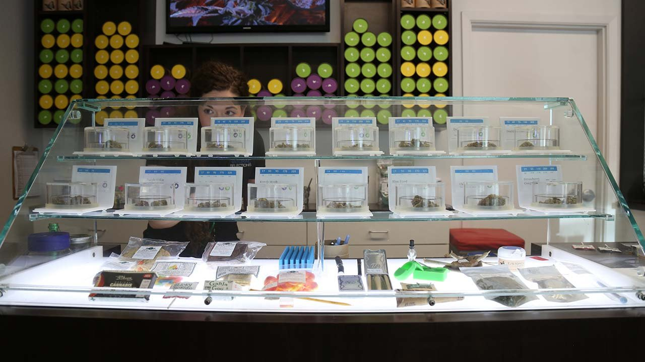 "Dispensaries usually carry many cannabis products – from flower and ""wax"" to cookies and infused tea. (Source: Jessie Wardarski/News21)"