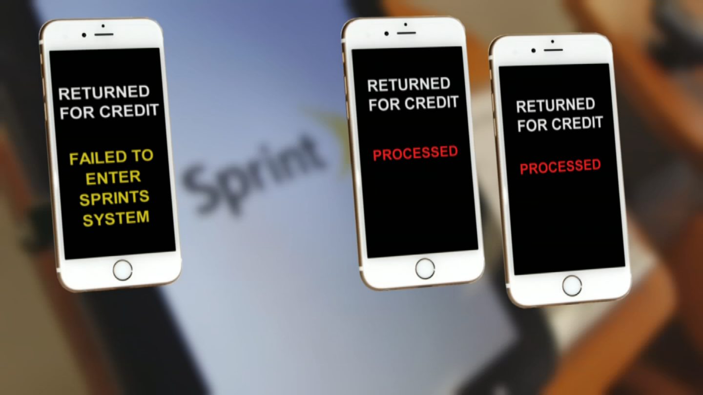 Out of those three phones that Rowe returned for credit, only two were processed and the third one failed to correctly enter Sprint's system. (Source: 3TV)