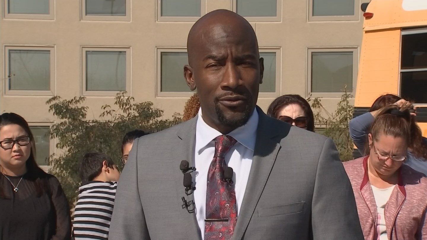 Attorney Quacy Smith represents the jolted teachers. 5 Feb. 2018 (Source: 3TV/CBS 5 News)