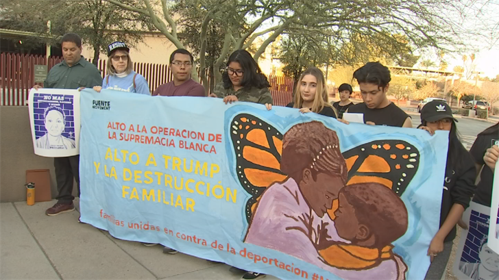 Protesters were outside of the Phoenix ICE office where they said the deportation was unjust and unfair. (Source: 3TV/CBS 5)