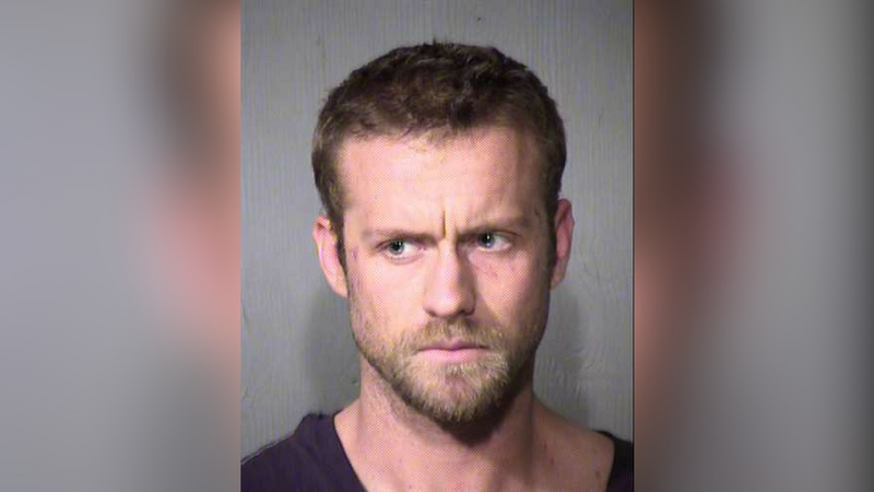 Mitchell Taebel, 31, arrested after leading DPS troopers on a pursuit that ended in a head-on collision in Tempe. (Source: Maricopa County Sheriff's Office)