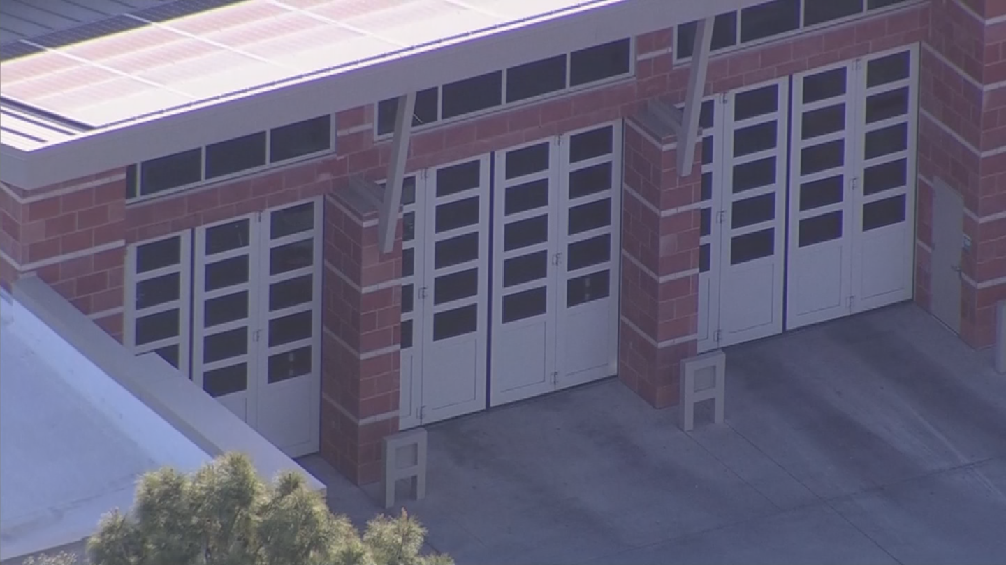 While touring the station, the young boy was injured by the apparatus bay doors. (Source: 3TV/CBS 5)