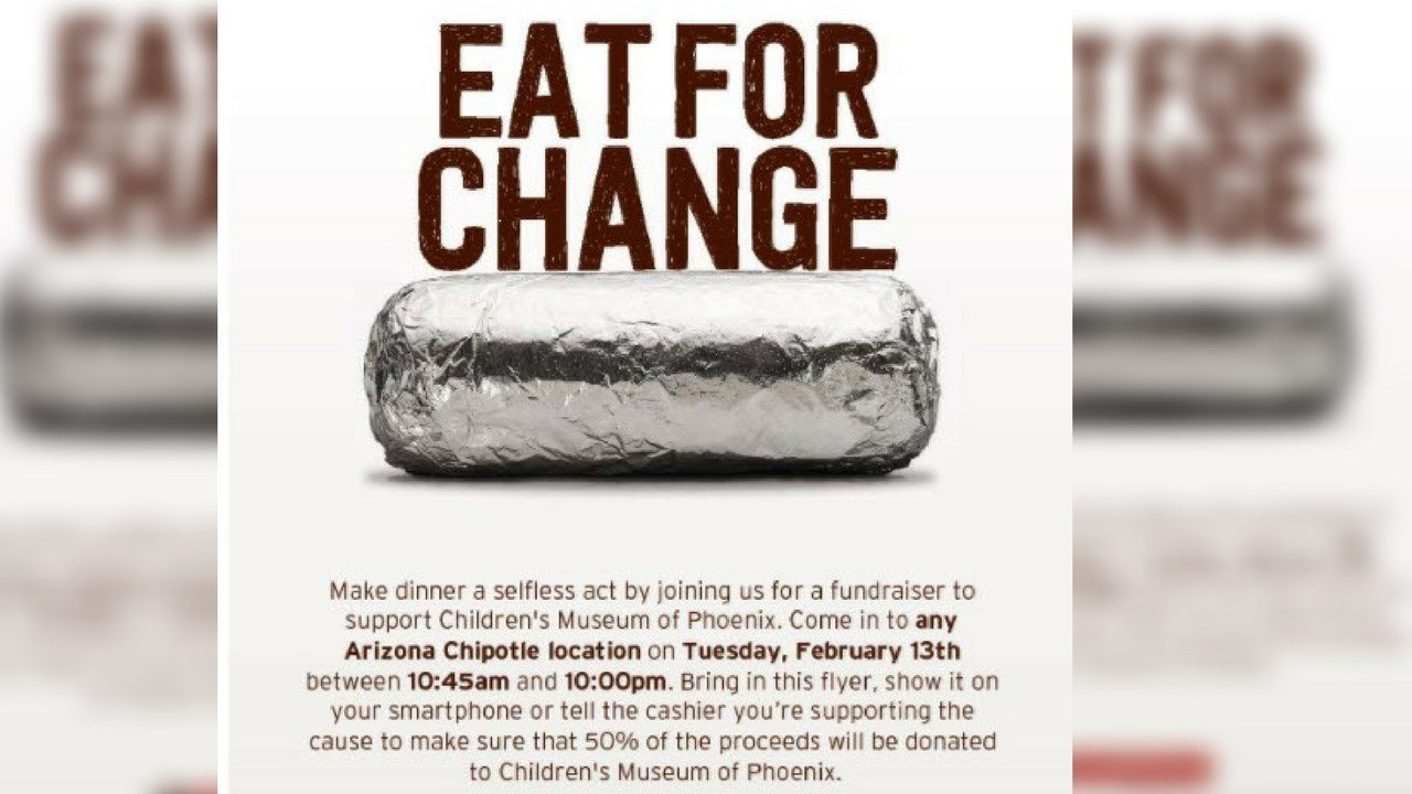 The 'Eat for Change' event is scheduled for Tuesday, Feb. 13 (Source: Children's Museum of Phoenix)