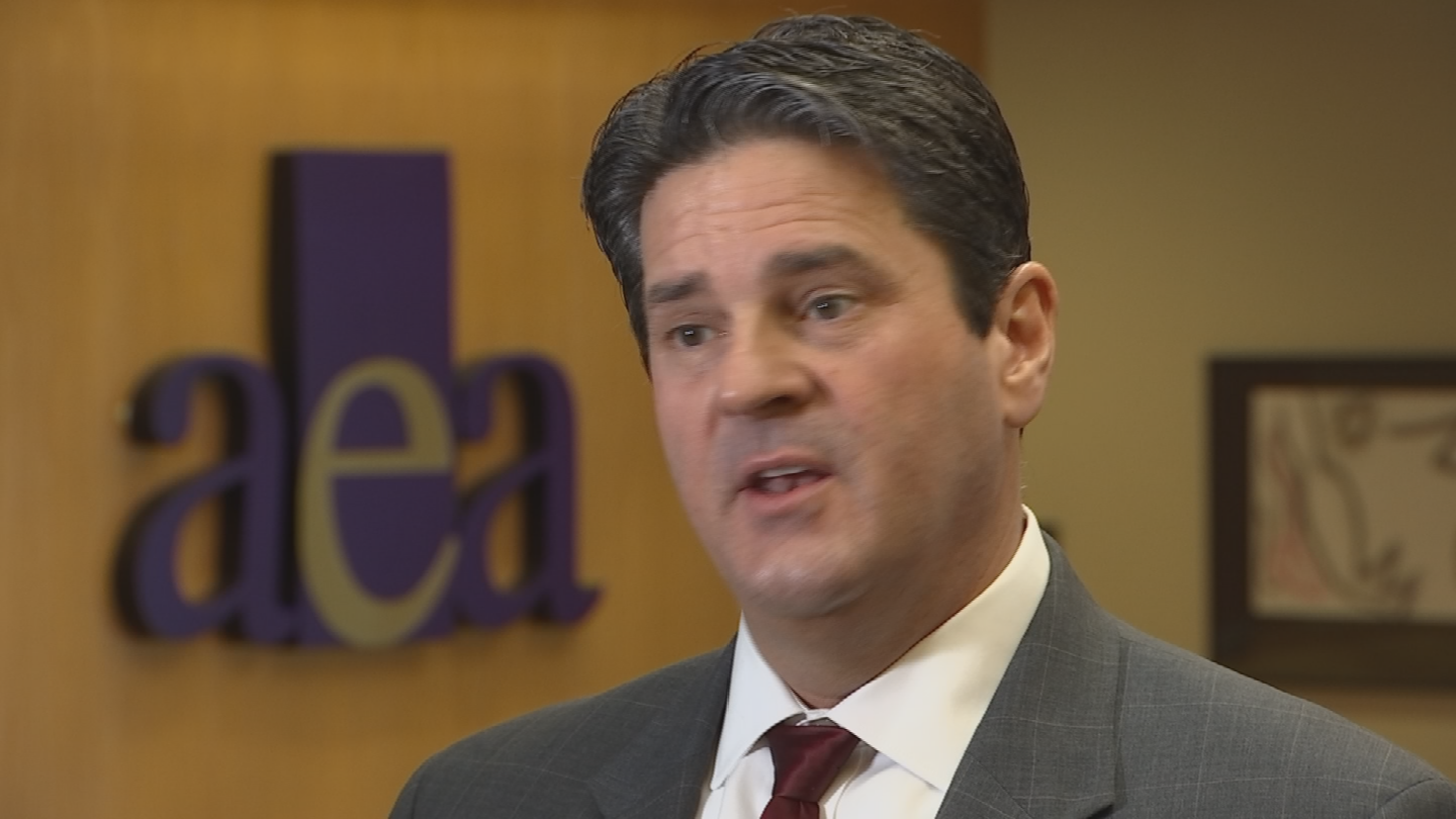 """The financial oversight that we provide for district schools should be the same that we provide for charter schools,"" said Arizona Education Association president Joe Thomas. (Source: 3TV/CBS 5)"