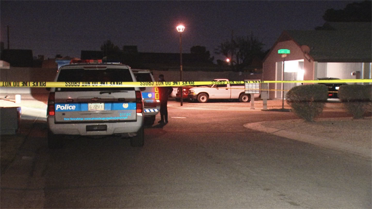 A woman was shot in a Phoenix neighborhood Tuesday night. (Source: 3TV/CBS 5)