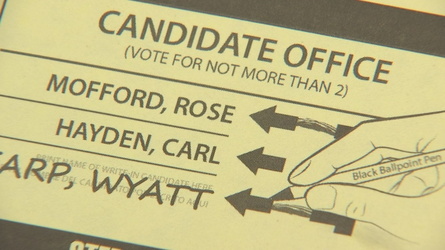 "The voting instructions say ""vote for not more than 2."" Once candidate believe this might confuse voters. (Source: 3TV/CBS 5)"