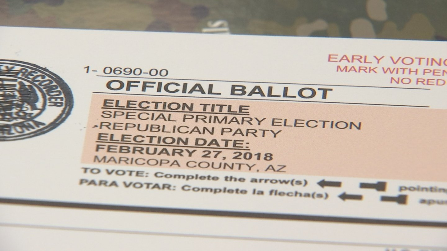 Ballot for the CD 8 special election primary (Source: 3TV/CBS 5)