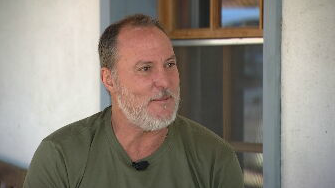 Stephen Shearin is the project manager for American Green, a Phoenix-based cannabis company that bought the entire 80-acre town last year for $5 million. (Source: 3TV/CBS 5)
