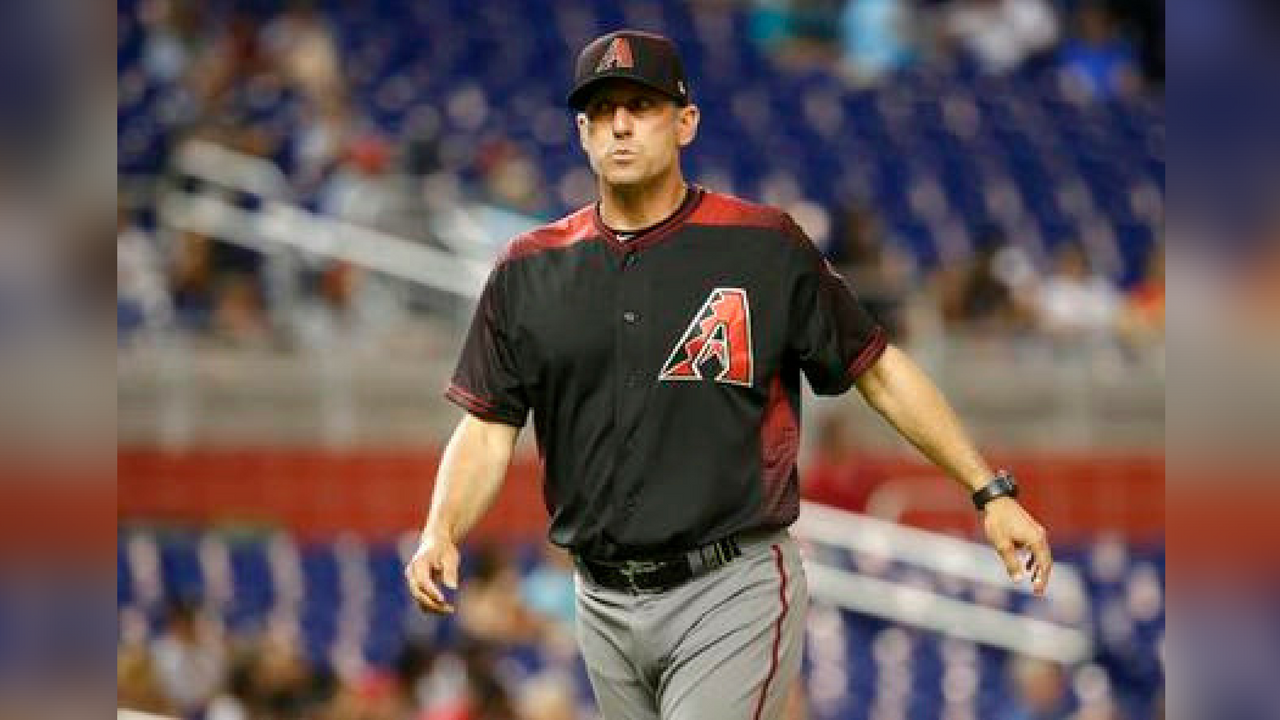 FILE - In this June 1, 2017, file photo, Arizona Diamondbacks manager Torey Lovullo walks from the mound during a baseball game against the Miami Marlins in Miami. (Source: AP Photo/Lynne Sladky, File)