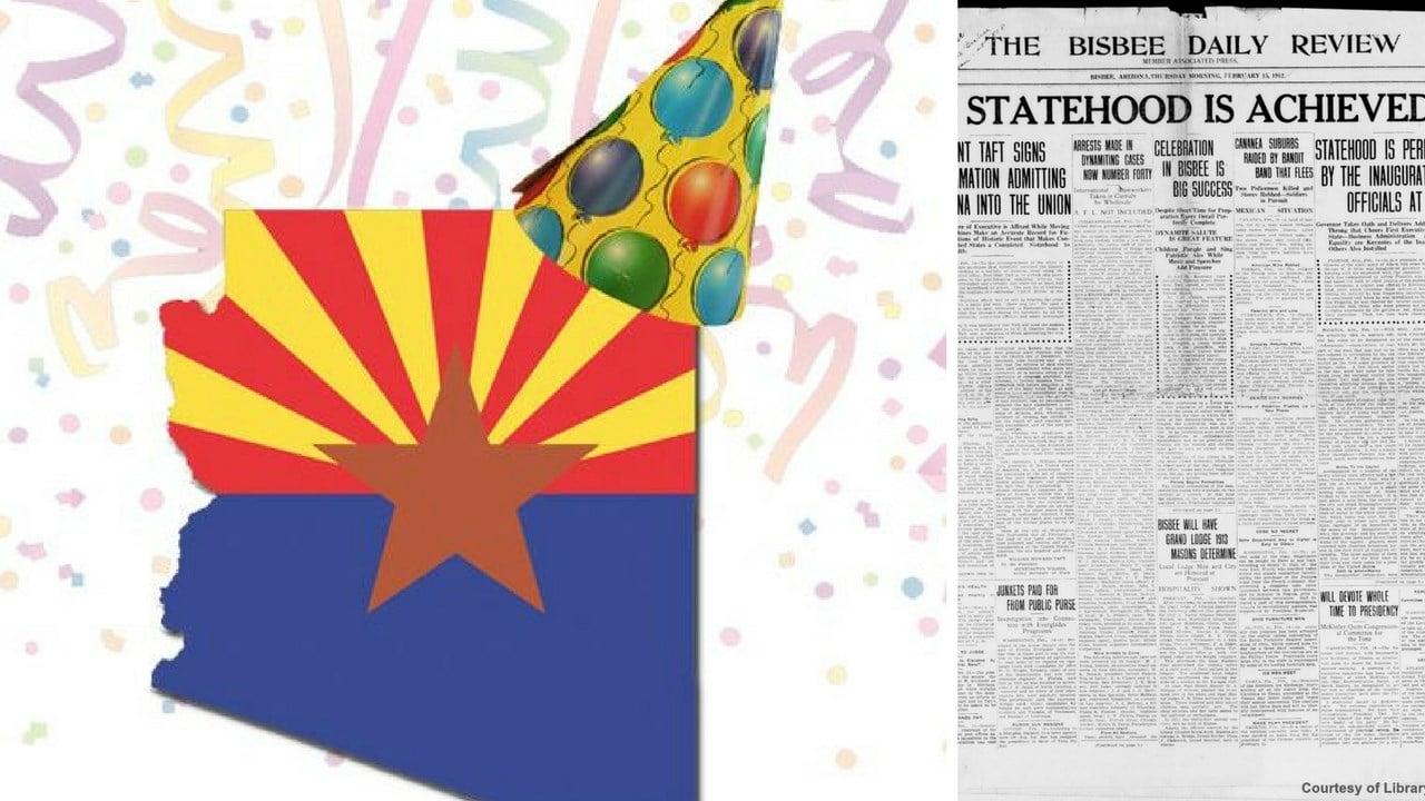 Arizona celebrates 106 years on Feb. 14. (Source:3TV/CBS 5 News)