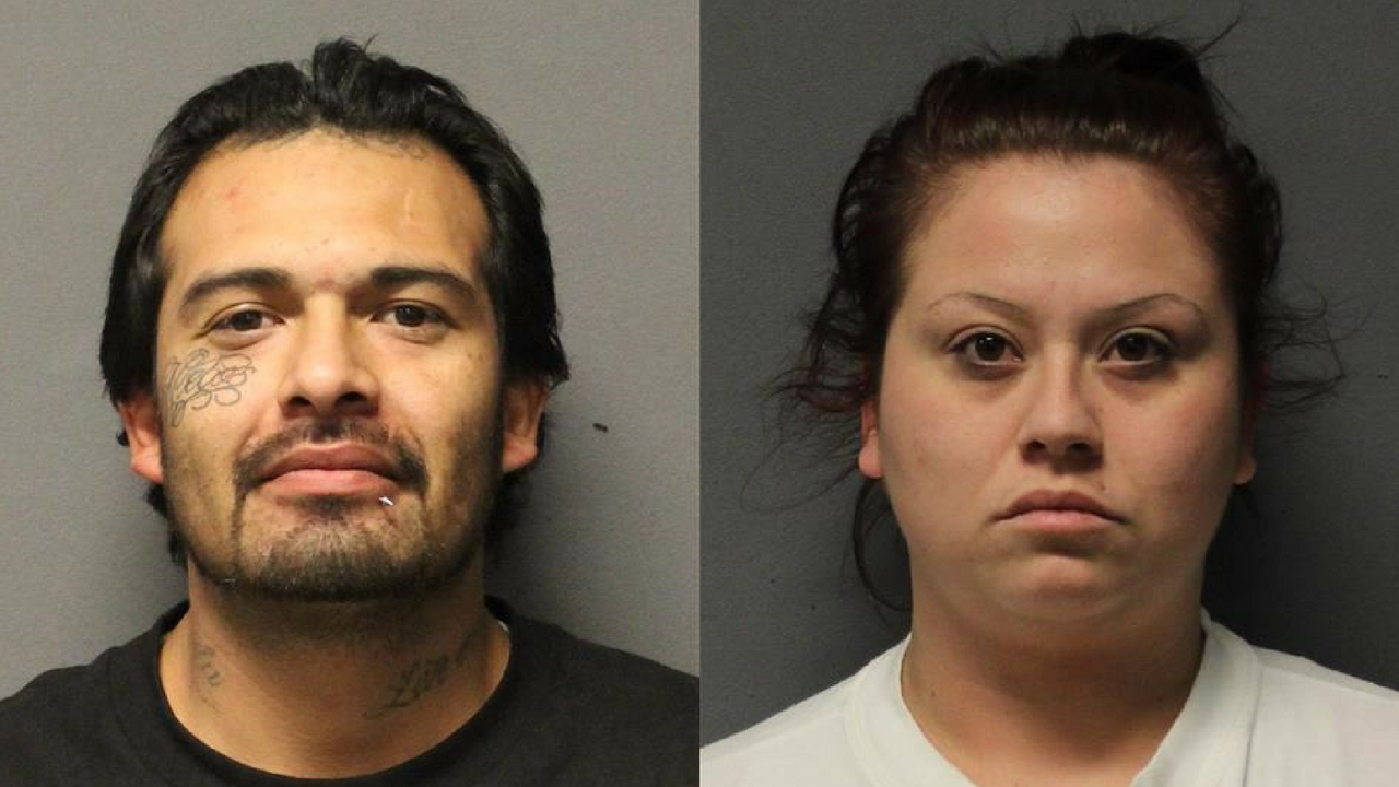 Two suspects accused of running a credit card fraud operation were arrested west of Flagstaff in a stolen vehicle with 12 grams of meth, according to the Yavapai County Sheriff's Office. (Source: Yavapai County Sheriff's Office)