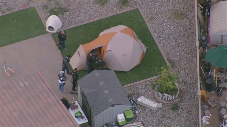 Police thought a suspect was in a tent but officers came up empty. (Source: 3TV/CBS 5)