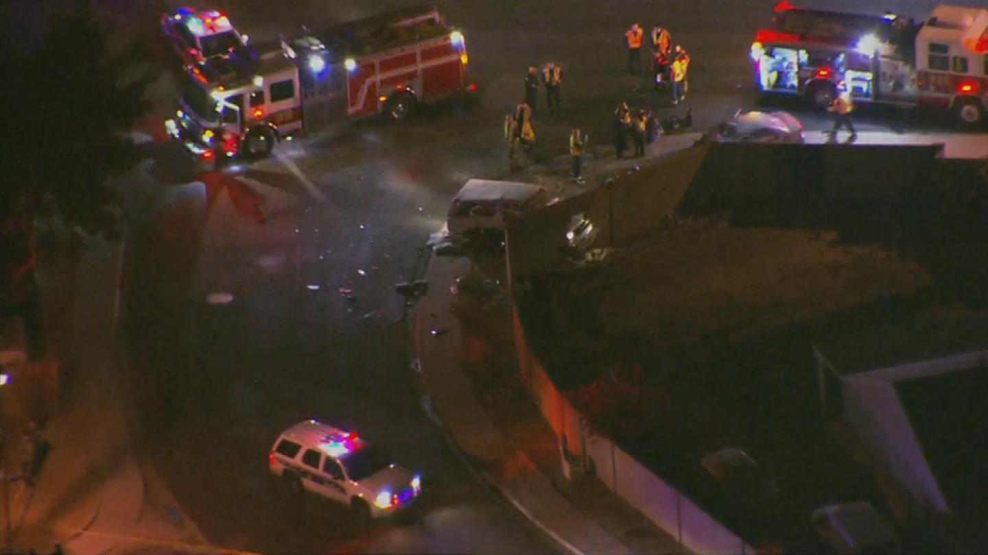 Two adults and two children were critically hurt in a crash in north Phoenix. (Source: 3TV/CBS 5)
