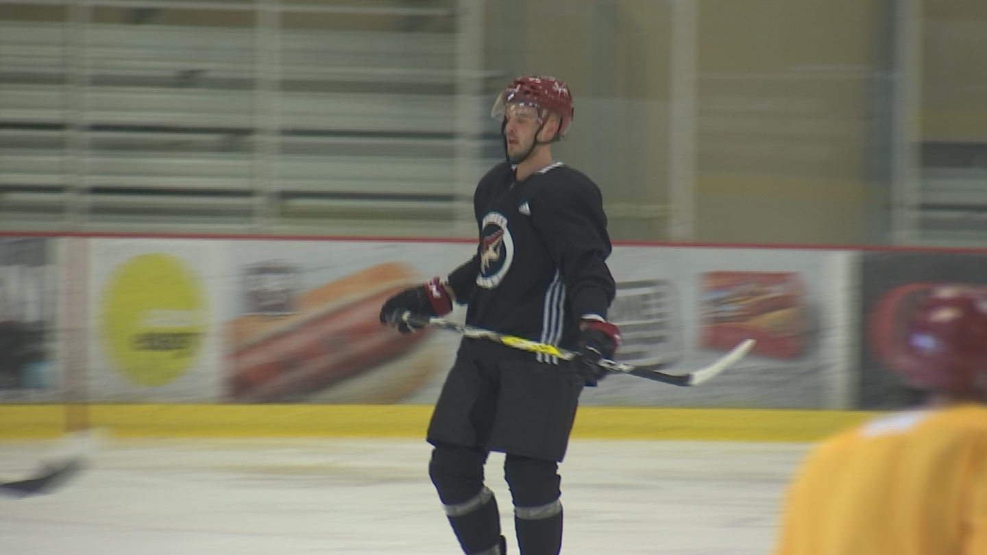 Niklas Hjalmarrson admits he was shocked by the trade that saw him leave Chicago. (Source: 3TV/CBS 5)
