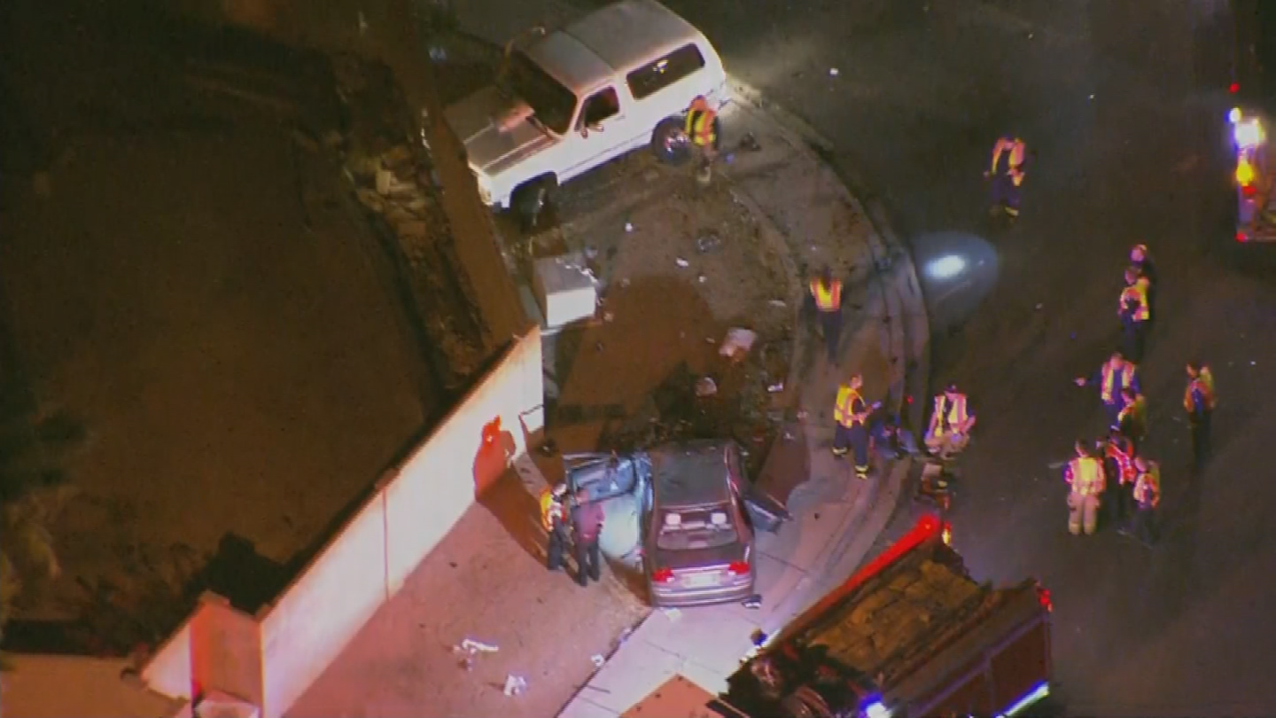 Five people were taken to the hospital. (Source: 3TV/CBS 5)