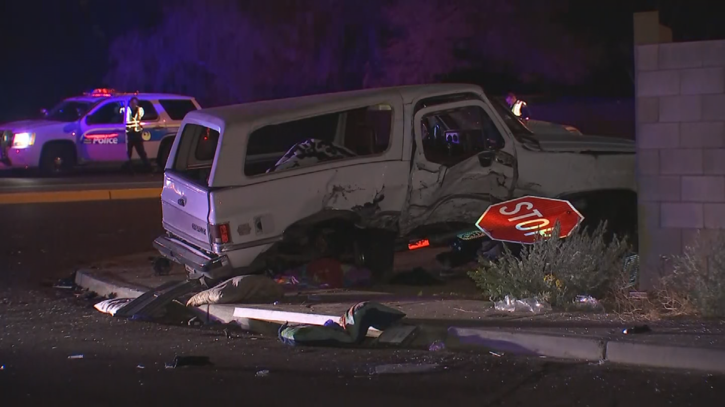 It appears a white SUV slammed through a wall. (Source: 3TV/CBS 5)