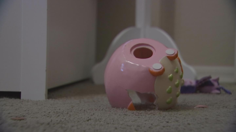 Christa Gilbert said the crooks broke her daughters piggy bank. (Source: 3TV/CBS 5)