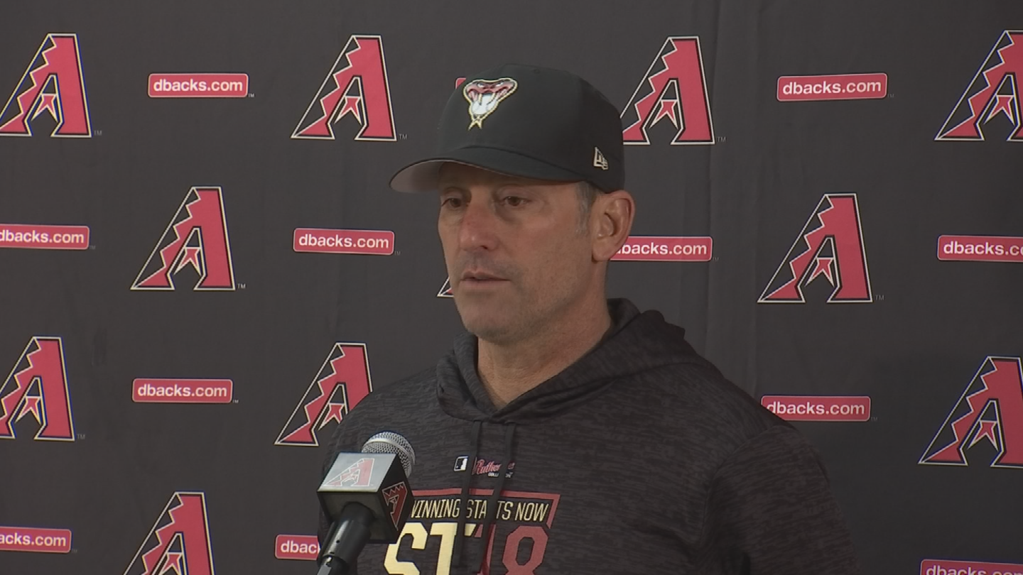 """We love the five that we have,"" said manager Torey Lovullo. (Source: 3TV/CBS 5)"