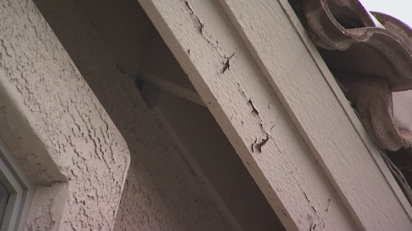 Some homes have clearly visible chips and cracks, and patches of faded paint. (Source: 3TV/CBS 5)