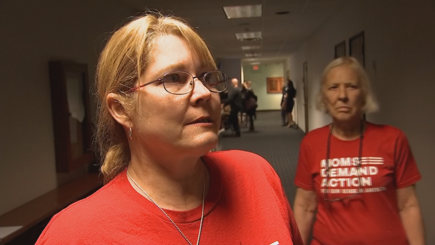 Deborah Parker with gun safety group Moms Demand Action. (Source: 3TV/CBS 5)