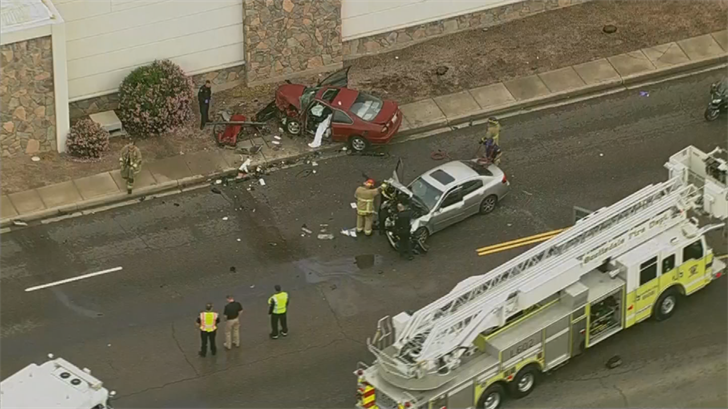 One person died and two others were hurt in the Scottsdale crash. (Source: 3TV/CBS 5)