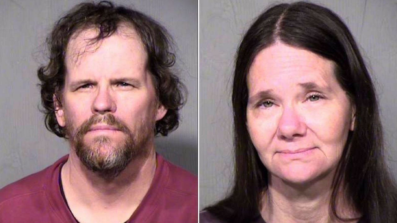 Glen and BarbaraAnn Whitley, arrested on suspicion of animal neglect after over 150 dogs were seized from their boarding facility. (Source: Maricopa County Sheriff's Office)