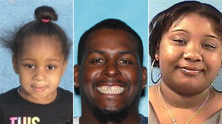 Harmony Dozier, Kenneth Dozier and Tiffany Moore. (Source: Department of Child Safety)