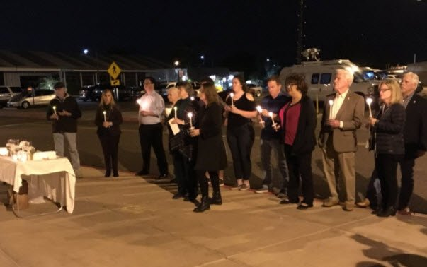 Vigil held Saturday night (Source: 3TV/CBS 5)