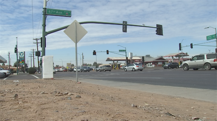 Phoenix police say the crash occurred just before midnight Saturday at 67th Avenue and Indian School Road when two vehicles collided. (Source: 3TV/CBS 5)